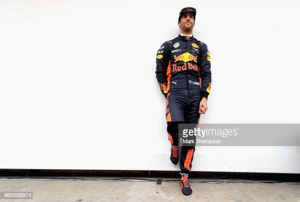 Daniel Ricciardo of Australia and Red Bull Racing in the Pitlane during practice for the Formula One Grand Prix of China at Shanghai International...