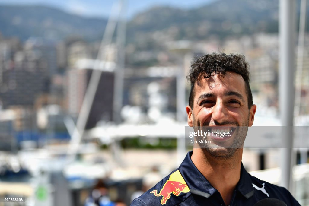 Daniel Ricciardo of Australia and Red Bull Racing looks on during previews ahead of the Monaco Formula One Grand Prix at Circuit de Monaco on May 25, 2018 in Monte-Carlo, Monaco.