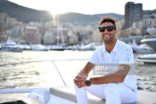 Daniel Ricciardo of Australia and Red Bull Racing looks on from a boat after qualifying for the Monaco Formula One Grand Prix at Circuit de Monaco on...