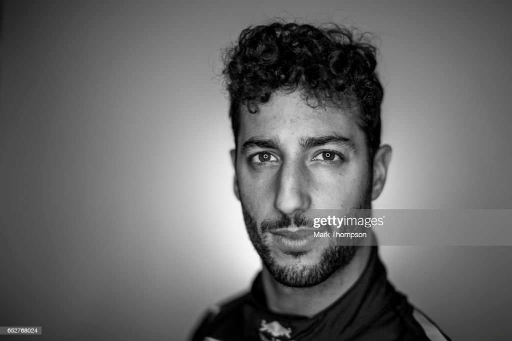 Daniel Ricciardo of Australia and Red Bull Racing poses for a portrait during the final day of Formula One winter testing at Circuit de Catalunya on March 10, 2017 in Montmelo, Spain.