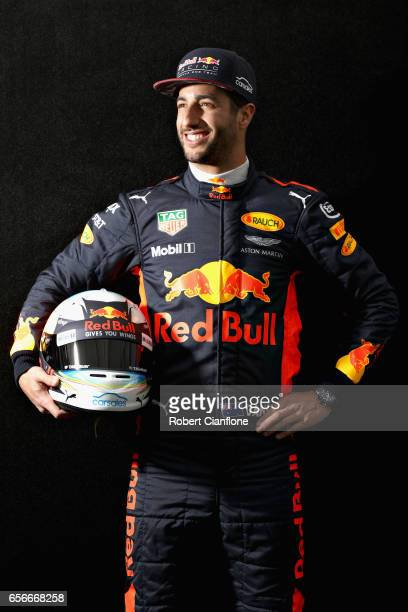 Daniel Ricciardo of Australia and Red Bull Racing poses for a portrait during previews to the Australian Formula One Grand Prix at Albert Park on...