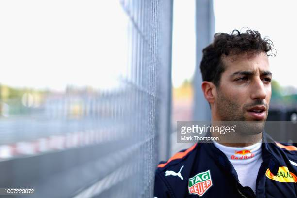 Daniel Ricciardo of Australia and Red Bull Racing prepares to drive on the grid during the Formula One Grand Prix of Hungary at Hungaroring on July...