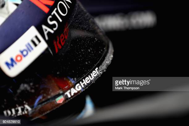 Daniel Ricciardo of Australia and Red Bull Racing prepares to drive during day one of F1 Winter Testing at Circuit de Catalunya on February 26, 2018...