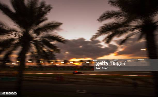 Daniel Ricciardo of Australia and Red Bull Racing Team driver goes during the race at Formula One Etihad Airways Abu Dhabi Grand Prix on Nov 26 2017...