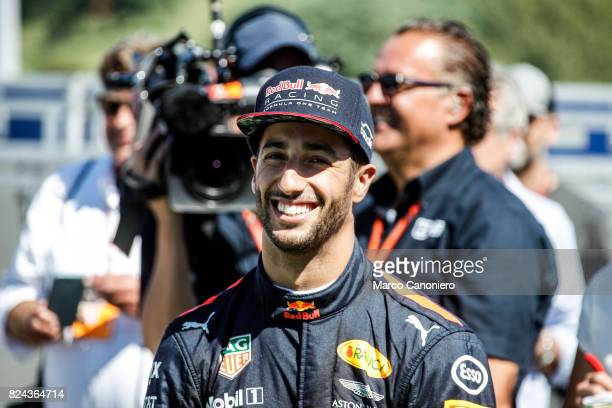 HUNGARORING BUDAPEST HUNGARY Daniel Ricciardo of Australia and Red Bull Racing walks in the Paddock before final practice for the Formula One Grand...
