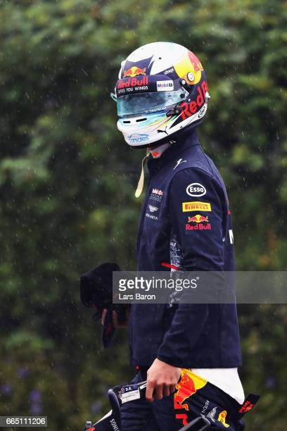 Daniel Ricciardo of Australia and Red Bull Racing walks in the Paddock during previews to the Formula One Grand Prix of China at Shanghai...