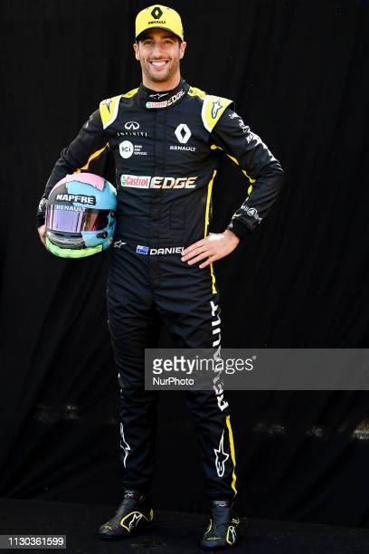 Daniel Ricciardo of Australia and Renault F1 Team poses for a portrait during a photo session ahead of the Australian Formula 1 Grand Prix at Albert...