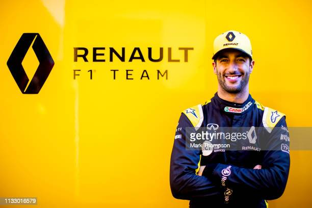 Daniel Ricciardo of Australia and Renault Sport F1 poses for a photo during day four of F1 Winter Testing at Circuit de Catalunya on March 01 2019 in...