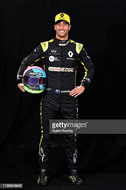 Daniel Ricciardo of Australia and Renault Sport F1 poses for a photo during previews ahead of the F1 Grand Prix of Australia at Melbourne Grand Prix...
