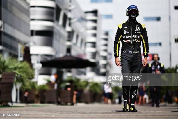 Daniel Ricciardo of Australia and Renault Sport F1 walks in the Paddock prior to the F1 Grand Prix of Russia at Sochi Autodrom on September 27 2020...