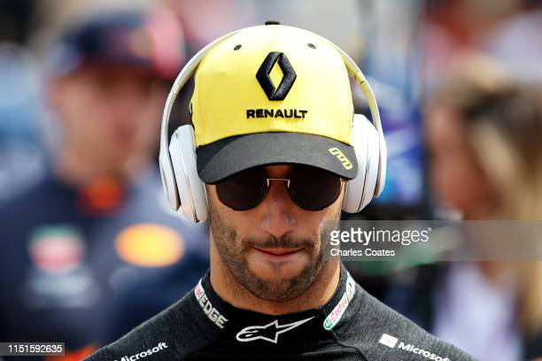 Daniel Ricciardo of Australia and Renault Sport F1 walks to his garage before qualifying for the F1 Grand Prix of Monaco at Circuit de Monaco on May...