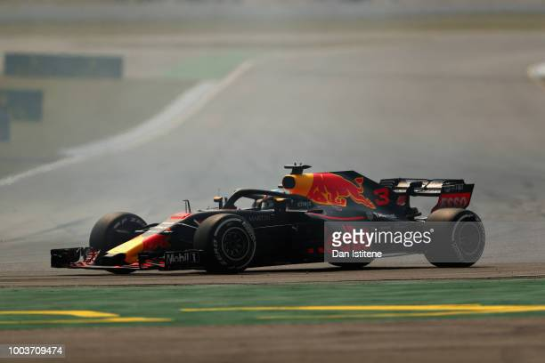 Daniel Ricciardo of Australia driving the Aston Martin Red Bull Racing RB14 TAG Heuer on track during the Formula One Grand Prix of Germany at...