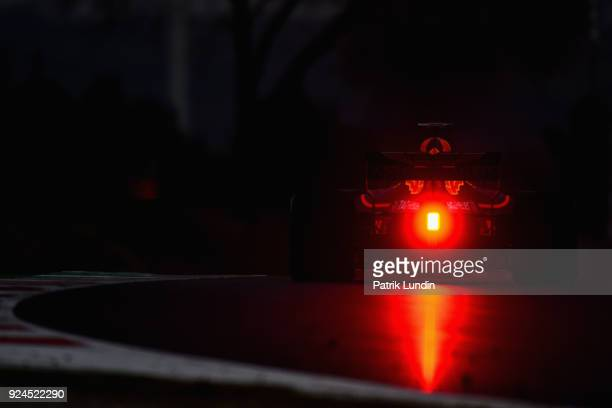 Daniel Ricciardo of Australia driving the Aston Martin Red Bull Racing RB14 TAG Heuer on track during day one of F1 Winter Testing at Circuit de...