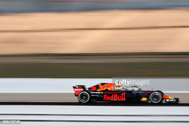 Daniel Ricciardo of Australia driving the Aston Martin Red Bull Racing RB14 TAG Heuer on track during day two of F1 Winter Testing at Circuit de...