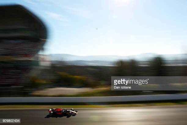 Daniel Ricciardo of Australia driving the Aston Martin Red Bull Racing RB14 TAG Heuer on track during day four of F1 Winter Testing at Circuit de...