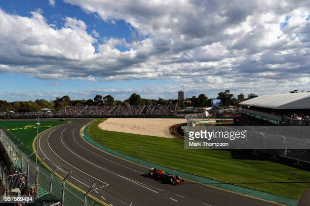 Daniel Ricciardo of Australia driving the Aston Martin Red Bull Racing RB14 TAG Heuer on track during the Australian Formula One Grand Prix at Albert...
