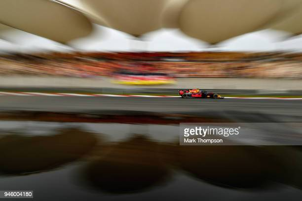 Daniel Ricciardo of Australia driving the Aston Martin Red Bull Racing RB14 TAG Heuer on track during final practice for the Formula One Grand Prix...