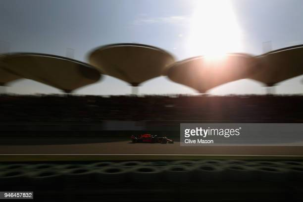 Daniel Ricciardo of Australia driving the Aston Martin Red Bull Racing RB14 TAG Heuer on track during the Formula One Grand Prix of China at Shanghai...