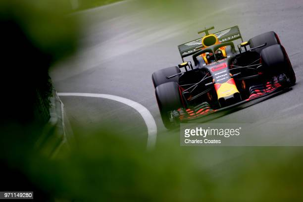 Daniel Ricciardo of Australia driving the Aston Martin Red Bull Racing RB14 TAG Heuer on track during the Canadian Formula One Grand Prix at Circuit...