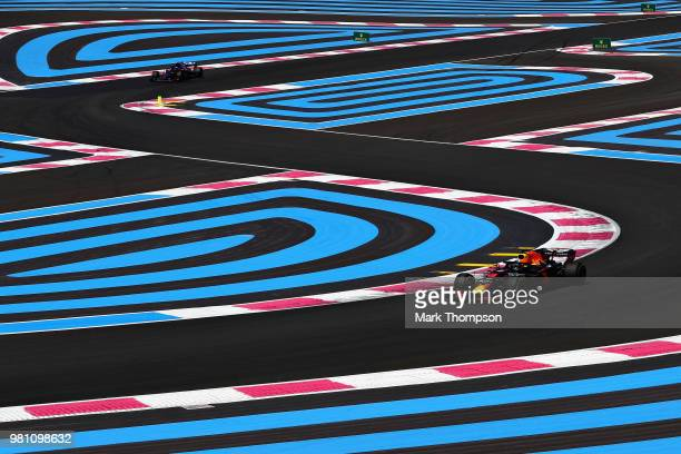 Brendon Hartley of Scuderia Toro Rosso and New Zealand during practice for the Formula One Grand Prix of France at Circuit Paul Ricard on June 22...