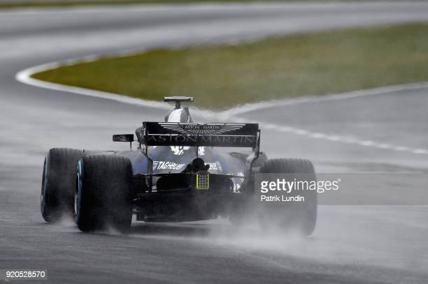 Daniel Ricciardo of Australia driving the Aston Martin Red Bull Racing Red Bull RB14 TAG Heuer during the Aston Martin Red Bull Racing RB14 Special...
