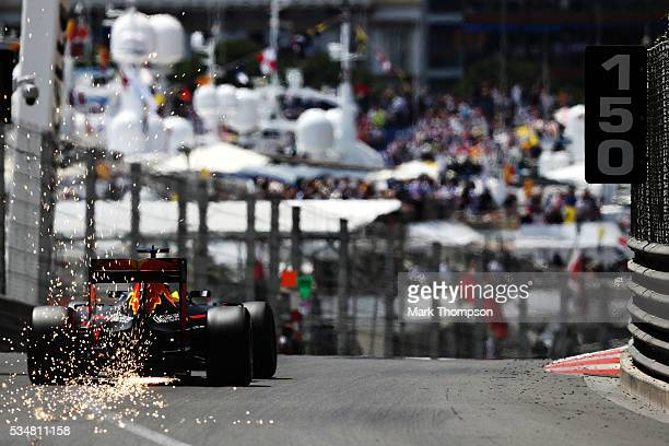 Daniel Ricciardo of Australia driving the Red Bull Racing Red Bull-TAG Heuer RB12 TAG Heuer on track during qualifying for the Monaco Formula One...