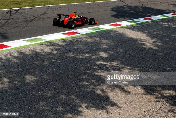 Daniel Ricciardo of Australia driving the Red Bull Racing Red BullTAG Heuer RB12 TAG Heuer on track during practice for the Formula One Grand Prix of...