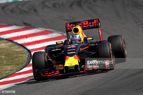 Daniel Ricciardo of Australia driving the Red Bull Racing Red BullTAG Heuer RB12 TAG Heuer on track during the Malaysia Formula One Grand Prix at...