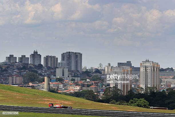 Daniel Ricciardo of Australia driving the Red Bull Racing Red Bull-TAG Heuer RB12 TAG Heuer on track during practice for the Formula One Grand Prix...