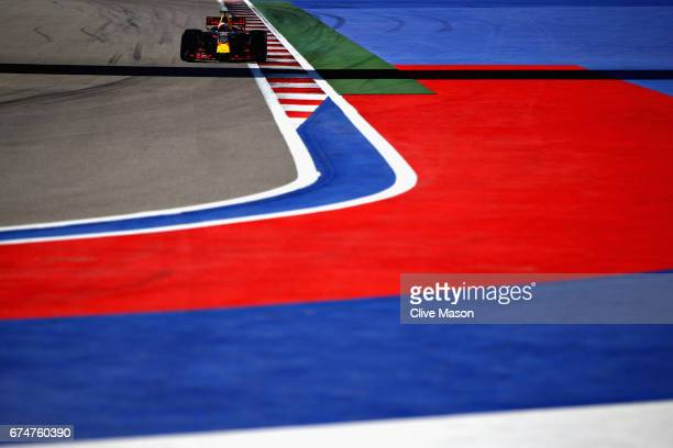 Daniel Ricciardo of Australia driving the Red Bull Racing Red Bull-TAG Heuer RB13 TAG Heuer on track during qualifying for the Formula One Grand Prix...