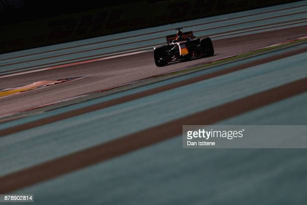 Daniel Ricciardo of Australia driving the Red Bull Racing Red BullTAG Heuer RB13 TAG Heuer on track during final practice for the Abu Dhabi Formula...