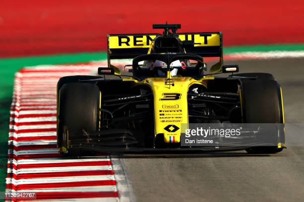 Daniel Ricciardo of Australia driving the Renault Sport Formula One Team RS19 on track during day three of F1 Winter Testing at Circuit de Catalunya...