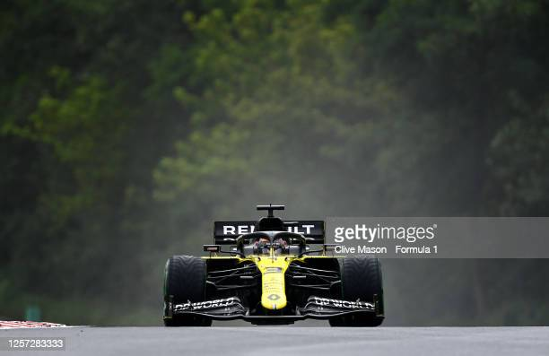 Daniel Ricciardo of Australia driving the Renault Sport Formula One Team RS20 on his way to the grid during the Formula One Grand Prix of Hungary at...