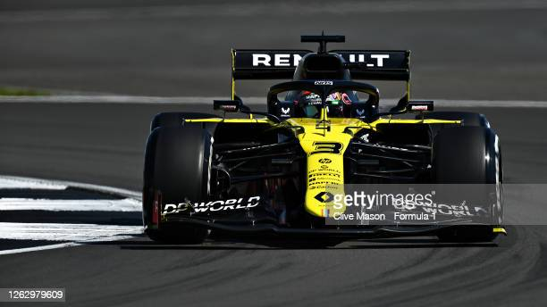 Daniel Ricciardo of Australia driving the Renault Sport Formula One Team RS20 during practice for the F1 Grand Prix of Great Britain at Silverstone...