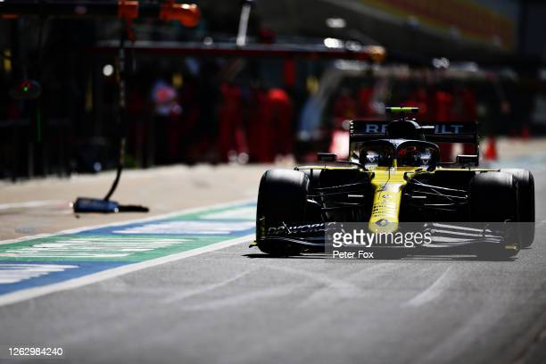 Daniel Ricciardo of Australia driving the Renault Sport Formula One Team RS20 in the Pitlane during practice for the F1 Grand Prix of Great Britain...