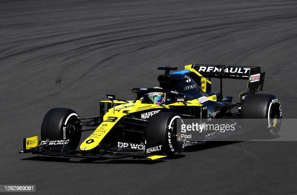 Daniel Ricciardo of Australia driving the Renault Sport Formula One Team RS20 on track during practice for the F1 Grand Prix of Great Britain at...