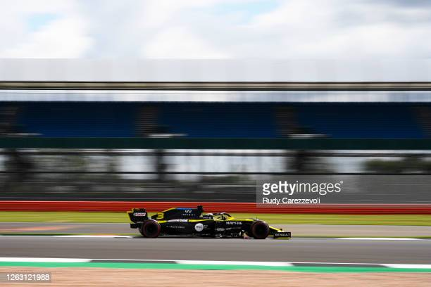 Daniel Ricciardo of Australia driving the Renault Sport Formula One Team RS20 on track during final practice for the F1 Grand Prix of Great Britain...