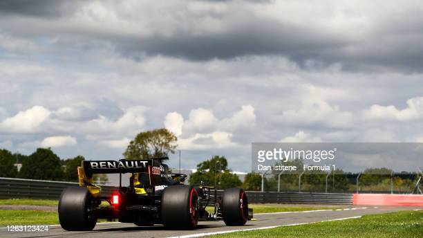 Daniel Ricciardo of Australia driving the Renault Sport Formula One Team RS20 during final practice for the F1 Grand Prix of Great Britain at...