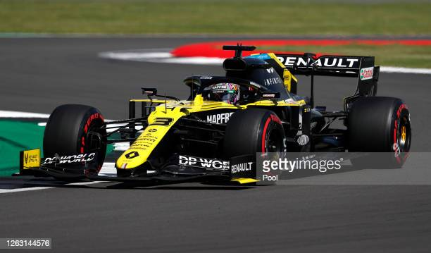 Daniel Ricciardo of Australia driving the Renault Sport Formula One Team RS20 on track during qualifying for the F1 Grand Prix of Great Britain at...