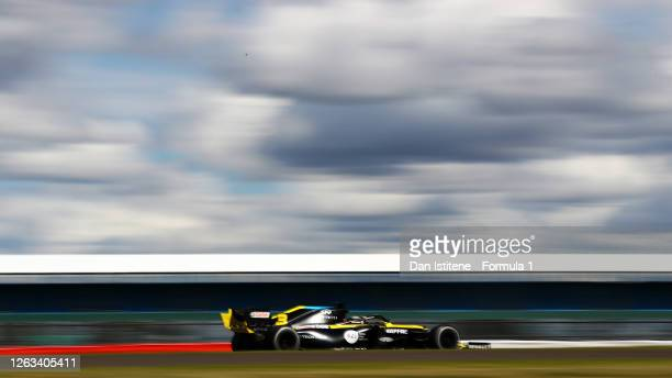 Daniel Ricciardo of Australia driving the Renault Sport Formula One Team RS20 during the F1 Grand Prix of Great Britain at Silverstone on August 02...