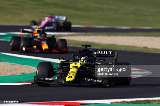Daniel Ricciardo of Australia driving the Renault Sport Formula One Team RS20 on track during the F1 Grand Prix of Tuscany at Mugello Circuit on...