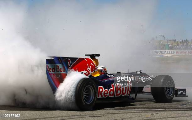 Daniel Ricciardo of RedBull drives during the Festival of Speed at Wanneroo Raceway on November 28 2010 in Perth Australia