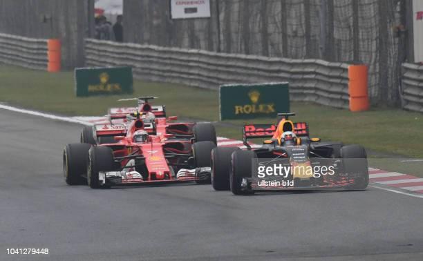 Daniel Ricciardo Red Bull Racing Kimi Raiikkoenen Sebastian Vettel Scuderia Ferrari formula 1 GP China in Shanghai