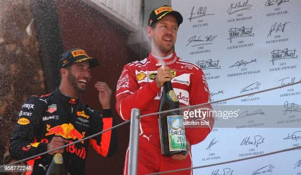 Daniel Ricciardo, Red Bull Racing, Sebastian Vettel, Scuderia Ferrari, formula 1 GP, Spanien in Barcelona Photo:mspb/Jackie Weiss