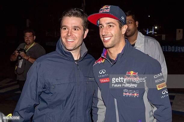 Daniel Ricciardo seen at the circuit lane on Day 2 of the 2015 Australian Formula 1 Grand Prix on March 13 2015 in Melbourne Australia Chris Putnam /...