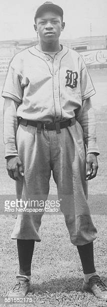 Daniel Robert Bankhead, the first black pitcher in Major League baseball, with the Brooklyn Dodgers, New York City, New York, August 30, 1947.