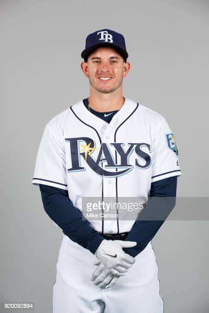 Daniel Robertson of the Tampa Bay Rays poses during Photo Day on Sunday February 18 2018 at Charlotte Sports Park in Port Charlotte Florida