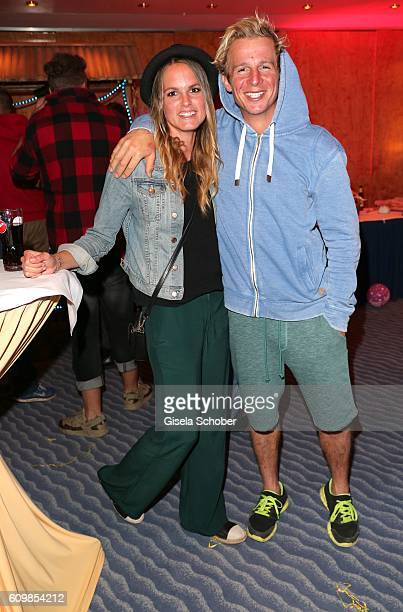 Daniel Roesner 'Alarm fuer Cobra 11' and Britta Penkalla during the surprise party for Erdogan Atalay's 50th birthday at Hotel Arkona on September 22...
