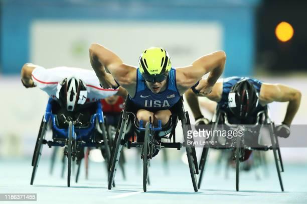 Daniel Romanchuk of the USA competes in the first round of the Men's 800m T54 on Day Two of the IPC World Para Athletics Championships 2019 Dubai on...