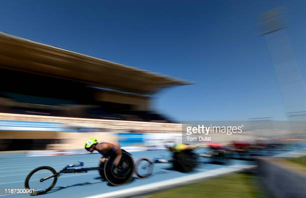 Daniel Romanchuk of United States competes during the Men's 5000m T54 Round 1 race on Day Seven of the IPC World Para Athletics Championships 2019...